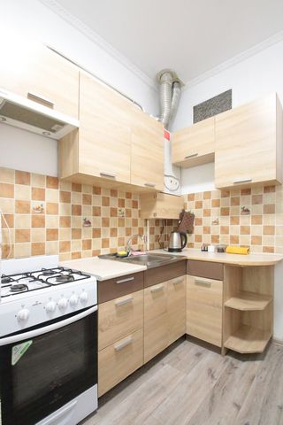 The apartments with 2 separate rooms are located on the street. Kulisha 44, on 3/3 floor. The apartments have: - Built-in kitchen; - Refrigerator; - Electric kettle; - Gas stove; - Cutlery; - Kitchen appliances; - Wine glasses; - Water glasses; - Cup...