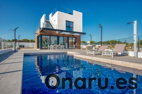 This villa is part of a new development of 14 luxury properties on the award-winning La Finca Golf & Spa Resort, only a 40-minute drive from Alicante Airport. The property features 3 bedrooms, 2 bathrooms, and a bright and airy living-dining area att...