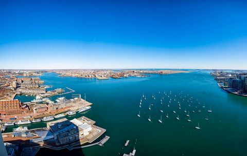 Waterfront living at its finest! A rare opportunity for the discerning buyer to own this spectacular penthouse with sweeping views of Boston and its famous harbor from every room of this corner residence. Located in the most sought-after waterfront c...
