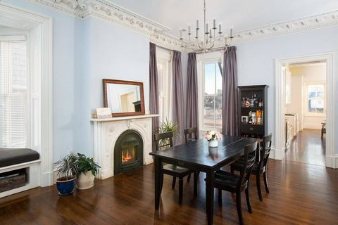 This rare, 5+BR home, c.1863, is stately yet warm offering 4,300+sf of impeccably finished living space and a stunning blend of high-end renovation and original architectural detail. Perched atop High Street, this residence offers incredible light an...