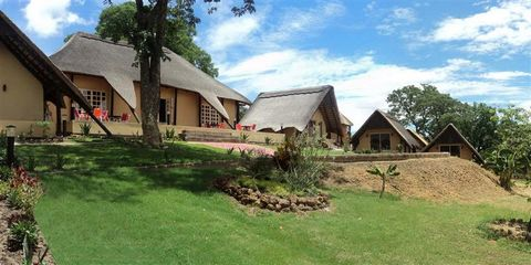 Superb Hotel in Zambezi North Western Province Euroresales Property ID – 9824940 Property information: This beautiful lodge offers comfortable accommodation in English thatched roof suites which are raised on separate platforms. There are 35 chalets ...