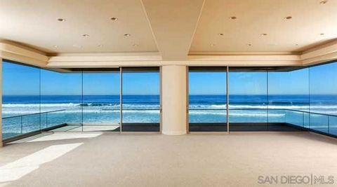 Detailed Description: Beachfront and prominently positioned for maximized panoramic coastal views and privacy, this voluminous gated home includes 50′ of footage on La Jolla Shores Beach, one of only 22 homes on this renowned and coveted stretch of C...