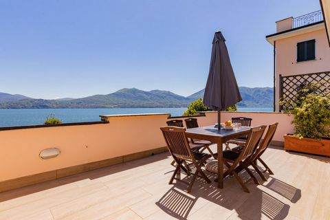 You will find this apartment in a beautiful, small-scale holiday complex right on Lake Maggiore. The complex consists of 15 modern apartments overlooking the lake - ideal for a family holiday! Guests have access against payment to the beautiful priva...