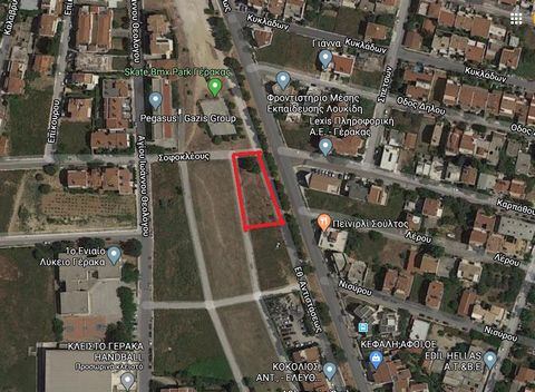 Gerakas, Attica. For sale a buildable plot of 692 sq.m., within the city plan, flat, corner, building coefficient. 0.8 ( built 500 sq.m.), cover сcoefficient. 0.6, 4 sides, with fencing, unrestricted view, suitable for residential and for professiona...