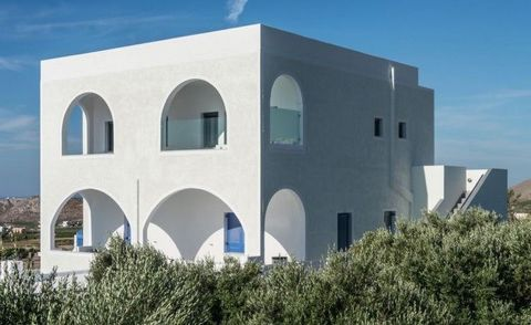 Located in the seaside area of Megalochori, the property occupies the first floor of a newly built 2-storey building. The exterior features the traditional Cycladic model of architecture, yet with some touches of modern design such as the surrounding...