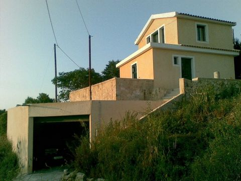 Kefalonia, Kalata. For sale house of 90 sq.m. on the plot of 400 sq.m. The house consists of 2 floors. Ground floor – hall, kitchen, 2 bedrooms and bathroom First floor – living room and small bathroom with shower Large garage located in the baseme...