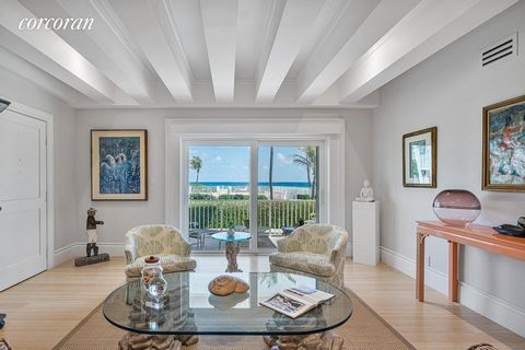 The Somerset is a small co-operative building directly on the ocean in Gulf Stream. This beautiful, first floor, 2 bedroom, 2.5 Bath apartment has been completely remodeled with new kitchen, top of the line appliances, new bathrooms and bamboo floors...