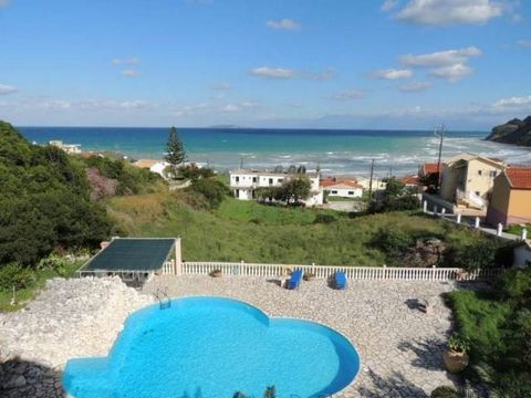 A fantastic villa of 375 sqm plus 70 sqm of verandas on a plot of 4000 sqm, just 150m from the sandy beach of Agios Stefanos with an unhindered seaview and a swimming pool. The complex has three levels. On the ground floor there is a three-bedroom ap...