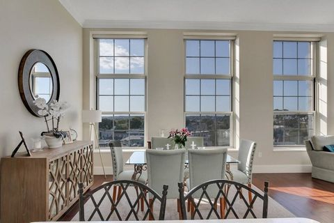 The Schoolhouse on Monument Square! Breathtaking Sunset Corner Top Floor Penthouse! Flawless floor plan all on one level! Garage Parking included! Brilliant Sunshine is Everywhere! Giant Oversized Windows with awe inspiring and endless Sunset Views o...