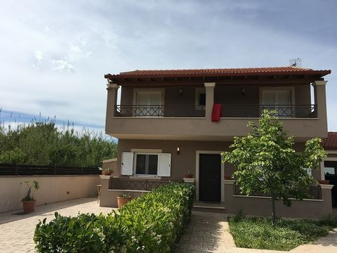 Corfu, Perama. For sale house of 90 sq.m. on the plot of 400 sq.m. The house consists of two levels 45sq.m. each. On the ground floor there is a living room with a kitchen and a bathroom. On the first floor there is two bedrooms and bathroom.  The ho...