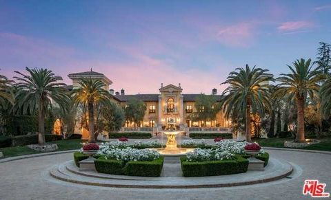 Detailed Description: Authentic Italian village encompassing the largest assemblage in Beverly Park. On over nine acres, accessed by its own street, this one-of-a-kind property took over seven year to create. Expansive gates open to a 30 car courtyar...