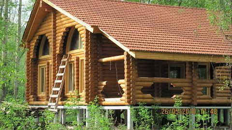 I rent a house for rent rustic beyond the Volga. The house is located in the former b / c